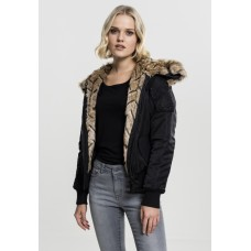 Ladies Imitation Fur Bomber Jacket