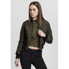 Ladies Diamond Quilt Short Bomber