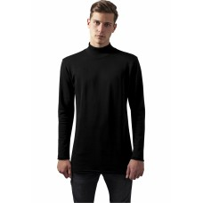 Long Open Edge Turtleneck Crew