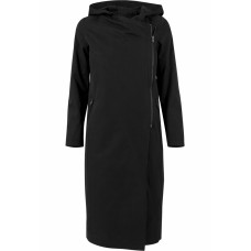 Ladies Peached Long Asymmetric Coat