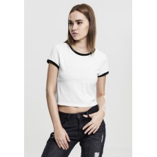 Ladies Cropped Ringer Tee